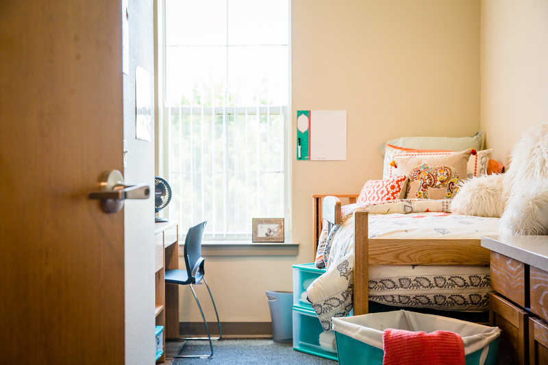 interior view of unt dallas dorm room