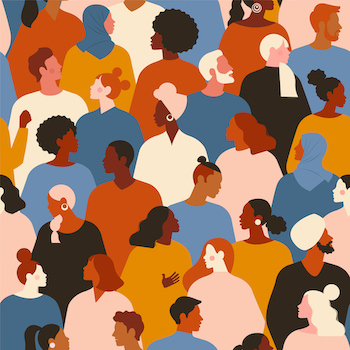 illustration of diverse men and women
